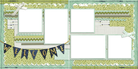 Baby Boy Welcome - Digital Scrapbook Pages - INSTANT DOWNLOAD