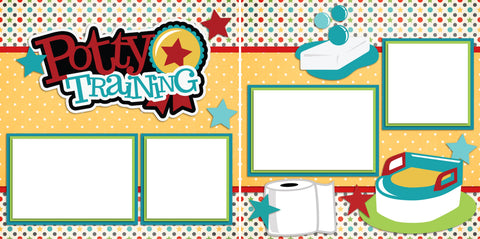 Potty Training - Digital Scrapbook Pages - INSTANT DOWNLOAD