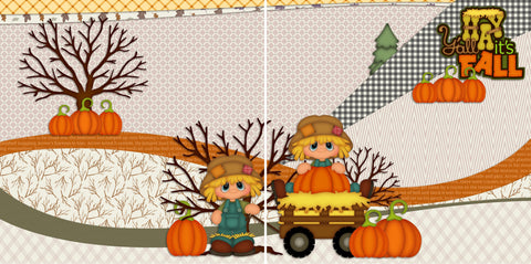 Hay Y'all Its Fall NPM - 2270 - EZscrapbooks Scrapbook Layouts Fall - Autumn