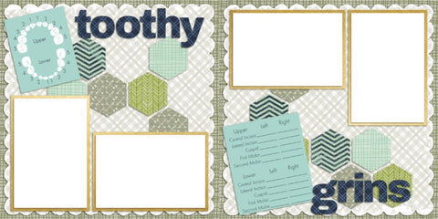 Toothy Grins Boy - Digital Scrapbook Pages - INSTANT DOWNLOAD