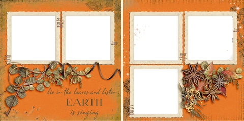 Earth is Singing - Digital Scrapbook Pages - INSTANT DOWNLOAD
