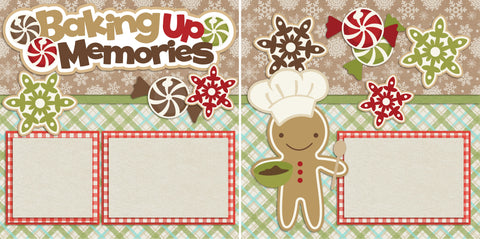 Baking up Memories - 2165 - EZscrapbooks Scrapbook Layouts Christmas