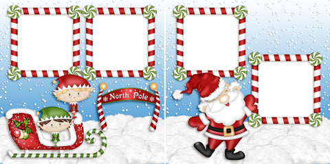 North Pole - Christmas - Digital Scrapbook Pages - INSTANT DOWNLOAD - 2019