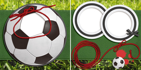 Soccer Ball - Digital Scrapbook Pages - INSTANT DOWNLOAD