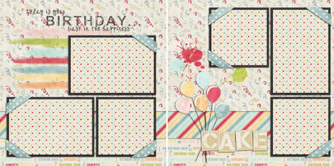 Birthday - 160 - EZscrapbooks Scrapbook Layouts Birthday