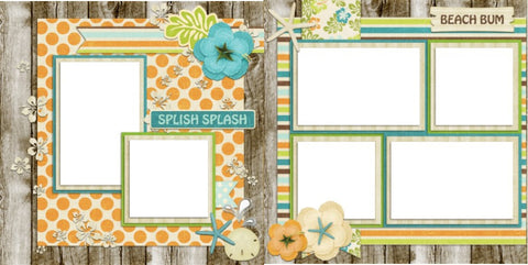 Beachy - Digital Scrapbook Pages - INSTANT DOWNLOAD