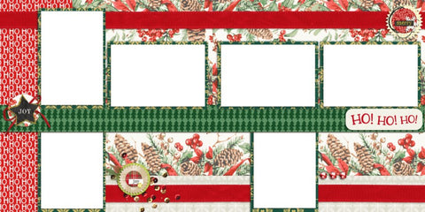 HoHoHo Again - Digital Scrapbook Pages - INSTANT DOWNLOAD - EZscrapbooks Scrapbook Layouts Christmas
