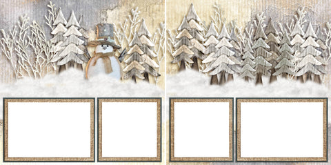 Winter Friend - Digital Scrapbook Pages - INSTANT DOWNLOAD