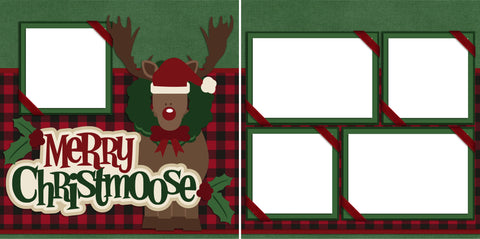 Merry Christmoose - Digital Scrapbook Pages - INSTANT DOWNLOAD