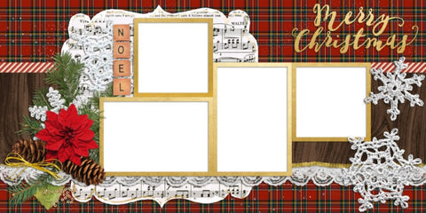 Christmas Noel - Digital Scrapbook Pages - INSTANT DOWNLOAD
