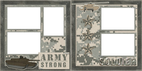 Army Strong - Digital Scrapbook Pages - INSTANT DOWNLOAD