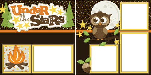 Under the Stars - Digital Scrapbook Pages - INSTANT DOWNLOAD