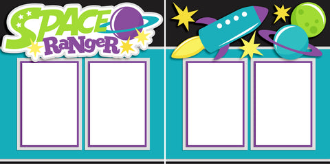 Space Ranger - Digital Scrapbook Pages - INSTANT DOWNLOAD