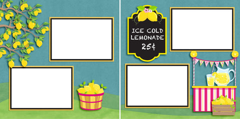 Ice Cold Lemonade - Digital Scrapbook Pages - INSTANT DOWNLOAD - EZscrapbooks Scrapbook Layouts Lemonade, Summer