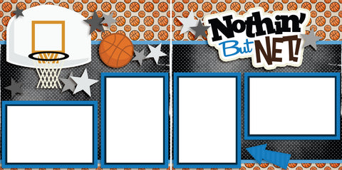 Nothin' But Net Blue - Digital Scrapbook Pages - INSTANT DOWNLOAD