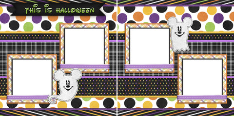 Ghost Mouse - Digital Scrapbook Pages - INSTANT DOWNLOAD
