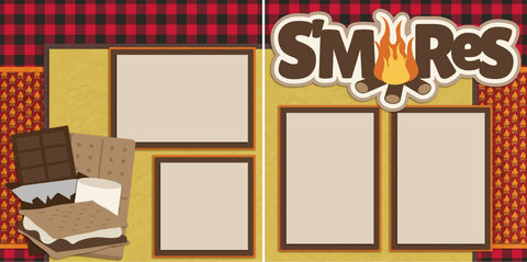S'mores - 2179 - EZscrapbooks Scrapbook Layouts Camping - Hiking
