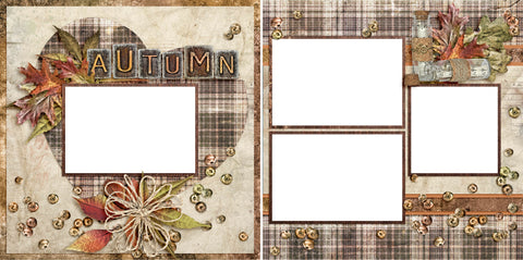 Autumn - Digital Scrapbook Pages - INSTANT DOWNLOAD