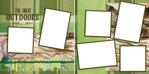 Great Outoors - Digital Scrapbook Pages - INSTANT DOWNLOAD