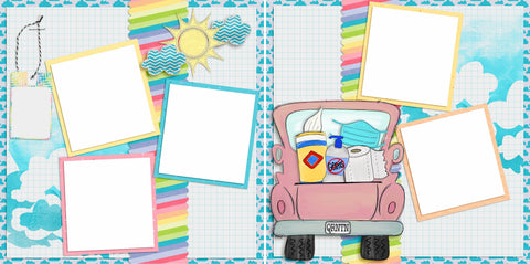 Quarantine Supply Run - Digital Scrapbook Pages - INSTANT DOWNLOAD - EZscrapbooks Scrapbook Layouts Quarantine-Corona