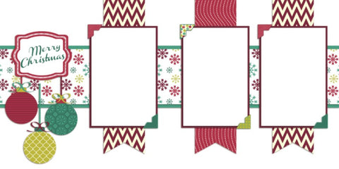 Christmas Banners - Digital Scrapbook Pages - INSTANT DOWNLOAD - EZscrapbooks Scrapbook Layouts