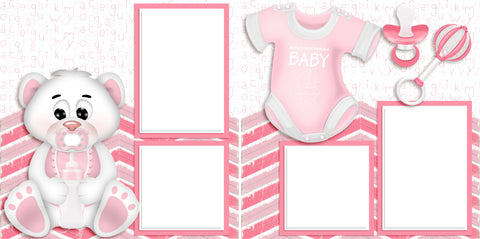 Adorable Baby Pink - Digital Scrapbook Pages - INSTANT DOWNLOAD - 2019