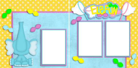 Elefun - Digital Scrapbook Pages - INSTANT DOWNLOAD