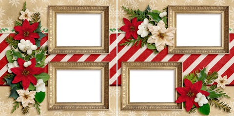 Christmas Holly - Digital Scrapbook Pages - INSTANT DOWNLOAD
