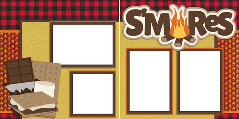 S'mores - Digital Scrapbook Pages - INSTANT DOWNLOAD