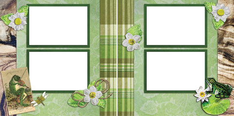 Pond -Digital Scrapbook Pages - INSTANT DOWNLOAD