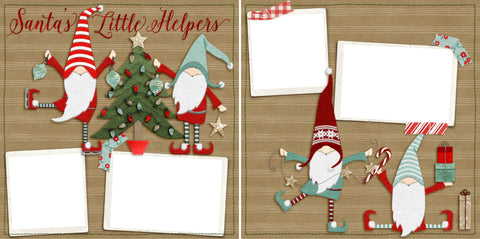 Santa's Little Helpers - Digital Scrapbook Pages - INSTANT DOWNLOAD - 2019