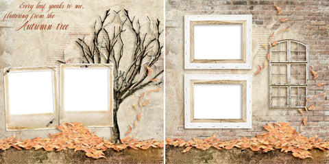 The Autumn Tree - Digital Scrapbook Pages - INSTANT DOWNLOAD