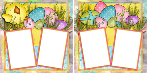 Easter Joy - Digital Scrapbook Pages - INSTANT DOWNLOAD