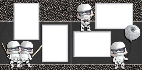 Little Troopers - Digital Scrapbook Pages - INSTANT DOWNLOAD - 2019