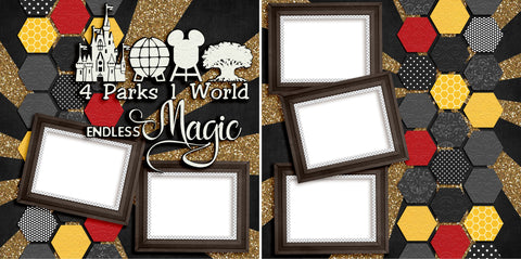 4 Parks - Digital Scrapbook Pages - INSTANT DOWNLOAD