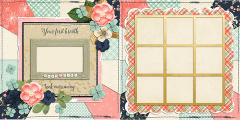 Baby Girl First Breath - 700 - EZscrapbooks Scrapbook Layouts Baby - Toddler