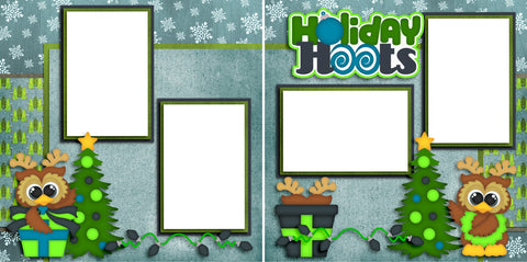 Holiday Hoots - Digital Quick Page Set - INSTANT DOWNLOAD