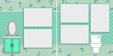 Potty Time - 987 - EZscrapbooks Scrapbook Layouts Baby - Toddler, Kids