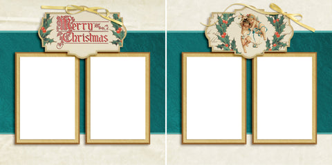 Victorian Christmas - Digital Scrapbook Pages - INSTANT DOWNLOAD