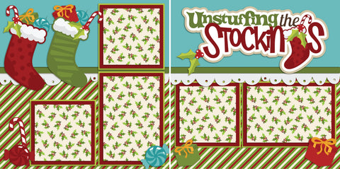 Unstuffing the Stockings - 2183 - EZscrapbooks Scrapbook Layouts Christmas