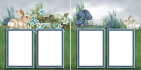 Easter Meadow - Digital Scrapbook Pages - INSTANT DOWNLOAD - EZscrapbooks Scrapbook Layouts Spring - Easter