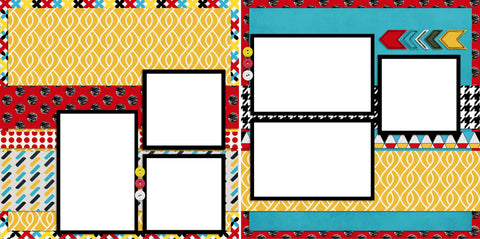 Mickey Inspired - 2035 - EZscrapbooks Scrapbook Layouts Disney, General No Title Layouts