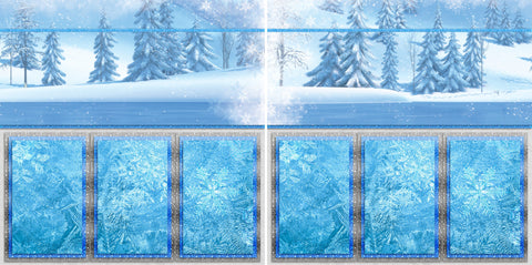 Olaf Inspired - 2031 - EZscrapbooks Scrapbook Layouts Disney, General No Title Layouts, Winter