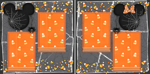 Candy Corn Mouse - 2365 - EZscrapbooks Scrapbook Layouts Disney