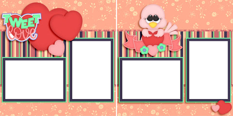Tweet Love - Digital Scrapbook Pages - INSTANT DOWNLOAD