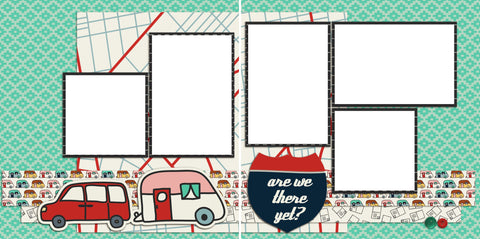 Are We There Yet - Digital Scrapbook Pages - INSTANT DOWNLOAD
