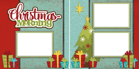 Christmas Morning - Digital Scrapbook Pages - INSTANT DOWNLOAD - EZscrapbooks Scrapbook Layouts Christmas, Winter