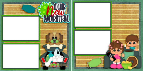 Our New Normal - Digital Scrapbook Pages - INSTANT DOWNLOAD - EZscrapbooks Scrapbook Layouts covid, home, quarantine, summer