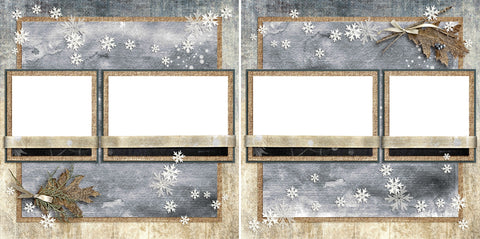 Winter Rustle - Digital Scrapbook Pages - INSTANT DOWNLOAD
