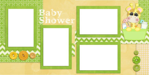 Baby Shower - Digital Scrapbook Pages - INSTANT DOWNLOAD